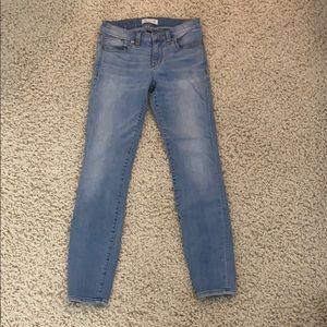 Madewell skinny skinny light wash jeans